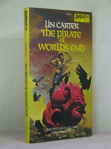 1st,signed by artist, Gondwane 5: The Pirate of World's End by Lin Carter (1978)