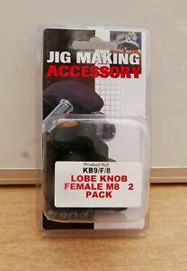 TREND KB9/F/8 LOBE KNOB FEMALE M8 2 PACK