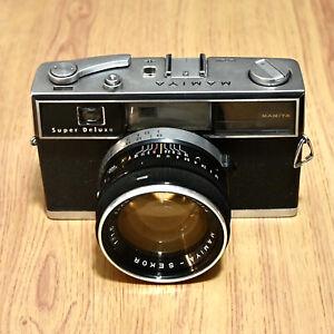 Mamiya Super Deluxe Rangefinder Film Camera Sekor 48mm F/1.5 Rare - BARGAIN
