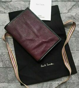 PAUL SMITH CRINKLED HONEYCOMB BIFOLD CARD HOLDER WALLET MADE IN ITALY