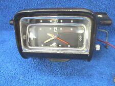 1958 OLDSMOBILE  ( BLACK )  DASH CLOCK & BEZEL HOUSING  NICE  ORIGINAL GM 1117
