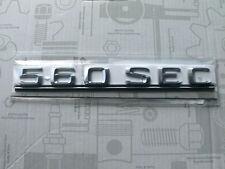 Original Mercedes Schriftzug / Typbezeichnung / Typkennzeichen 560SEC W126 NEU