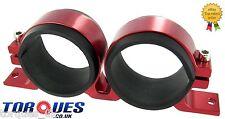 Twin Fuel Pump Mount Cradle Bosch 044 Walbro Sytec Facet -Red