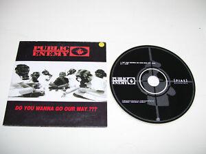 PUBLIC ENEMY - DO YOU WANN GO OUR WAY 2tr CD SINGLE '99