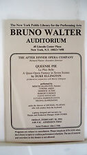 QUEENIE PIE Playbill DUKE ELLINGTON After Dinner Opera Company NYC 1994