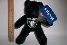 "Forever Oakland Raiders Beanie TEDDY Bear 8"" NFL Football Party Christmas Gift"
