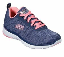 SKECHERS WOMENS TRAINERS - FLEX APPEAL 3 . 0 INSIDERS  - 13067 NVCL