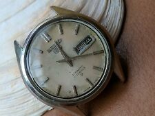 Vintage Seiko 6119-7090 Day-Date Divers Watch w/All SS Case FOR PARTS OR REPAIR