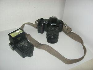 Nikon N6006 35mm SLR With AF Sigma 28-105mm 1:4 5.6 Zoom Lens with Vivitar Flash