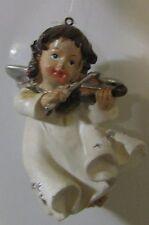 Ange musicien violon résine à suspendre  (NO12)