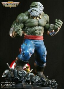 BOWEN MAESTRO HULK STATUE NEW! AVENGERS SIDESHOW PLANET THOR BUST SAVAGE RED