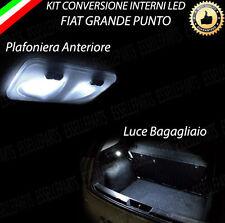 KIT LED INTERNI FIAT GRANDE PUNTO PLAFONIERA ANTERIORE + LUCE BAGAGLIAIO 6000K