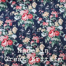 Vintage Floral Print Roses 100% Cotton Curtain Fabric // Made in Grate Britain