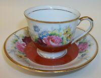 Vintage Gold China Occupied Japan Demitasse Cup Saucer Teacup Saucer Set