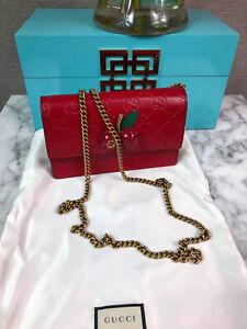 NEW GUCCI Signature Red Cherry Crossbody Bag