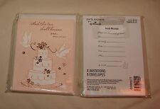 Hallmark BRIDAL SHOWER Invitations TWO SHALL BECOME ONE cake doves wedding Bride
