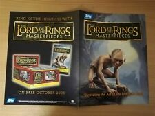 Lord Of The Rings Masterpieces Official Topps Sellsheet Sell Sheet