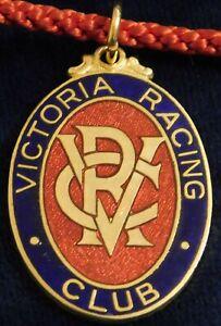 1965 ~ 66 VICTORIA RACING CLUB MEMBERS FOB / BADGE - STOKES - PERFECT