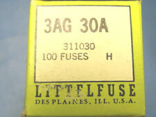 LITTLEFUSE 3AG-30 AMP 32 Volt Fast-Acting Glass Body Fuse 100 count box