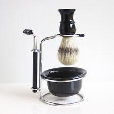 Man Face Clean Shaving Set Kit Boar Hair Brush Bowl Cup Mug Razor Holder Stand
