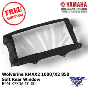 Genuine Yamaha Wolverine RMAX2 1000 / X2 850 Soft Rear Window B4M-K750A-T0-00