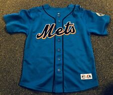 New York Mets Johan Santana Jersey Majestic YOUTH Medium 10-12 Blue SEWN