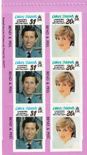 (36051) Caicos Islands MNH Princess Diana Wedding Booklet Pane 1981