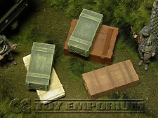 """""""RETIRED"""" Build-a-Rama 1:32 WWII Deluxe Large Ammo Crate Set #1  (5 Piece Set)"""