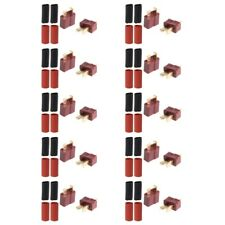 10Pairs Ultra T-Plug Connectors Deans Male Style Female with 20pcs Shrink Tube