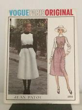 Vintage Vogue Paris Original Pattern 2513 Jean Patou & Label Size 8 Uncut Rare