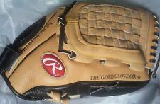 """RAWLINGS RBG13A 13"""" OPTIMUM TANNED LEATHER GLOVE Near Perfect Unbroken-In fr/shp"""