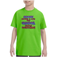 Youth Kids T-shirt Mommy Knows A Lot But Grandma Knows Everything k-725