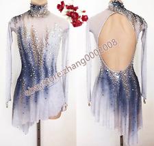 Ice Skating Dress.Competition Figure Skating Dress.Baton Twirling Dance Costume