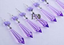 25 Purple Chandelier Glass Crystals Lamp Prisms Parts Hang Drops Pendants 55mm