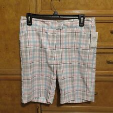 Women's Callaway golf shorts white pink blue size 4 brand new NWT $70