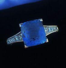 PLATINUM TACORI 6.05 CT GIA CERTIFIED NO 1 HEAT BLUE SAPPHIRE VVS DIAMOND RING!!