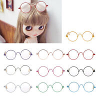 Round Frame Clear Lens Eyewear Glasses for 12/'/' Blythe Dolls Accessory FDBU