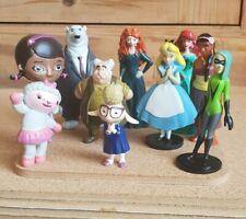Disney Figure Toy Lot Bundle 10 Alice Ariel Bellwether Maurice Merida Sina Void