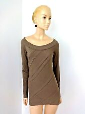 NWT $750 DONNA KARAN CASUAL LUXE SANDALWOOD  BOAT NECK TUNIC SIZE S