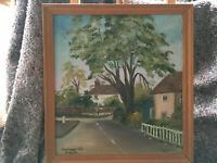 Framed signed oil on board 'Woolpack Hill Smeeth' (Kent) painting Lot BRE080619K