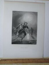 Vintage Print,DUTCH SKATERS,Steel Engraving,Brain+Payne,London,19th Cent