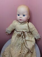 "CBS 14"" Tiny Tears Baby Porcelain Doll,vintage,COLLECTABLE, Toy, Game"