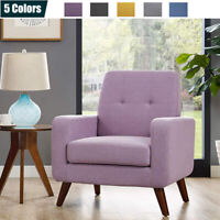 Modern Upholstered Accent Chair Comfy Arm Chair Fabric Single Sofa Living Room