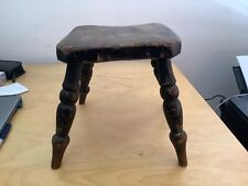 Vintage Milking Stool with Four Legs. 24 cm height