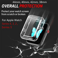 Clear TPU Full Cover For Apple Watch Series 5 4 44/40mm Thin Case For iWatch 3 2