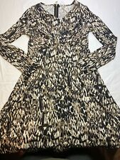 ny collection petite Dress -Animal Print-, V-neck Size PS
