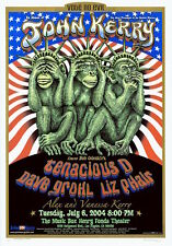 """Mint & Signed Emek Dave Grohl 2004 """"Vote No Evil"""" John Kerry A/P Poster"""