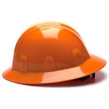 Pyramex Hard Hat Full Brim with 6 Point Ratchet Suspension, Orange