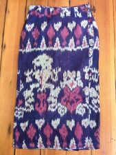 "Vtg Pier 1 Passports 100% Cotton Ethnic Woven Maxi Wrap Long Skirt L 28"" Waist"