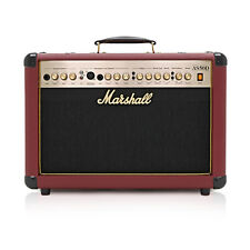 MARSHALL AS50DR 50 W Acoustique SOLOIST Combo DFX, OX-queue rouge sang LTD EDITION